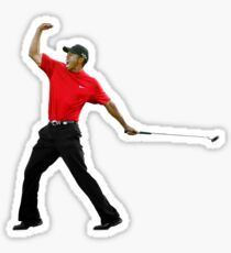 Tiger Woods Fist Pump Sticker