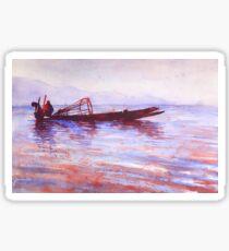 Fishermen- Inle Lake, Myanmar Sticker