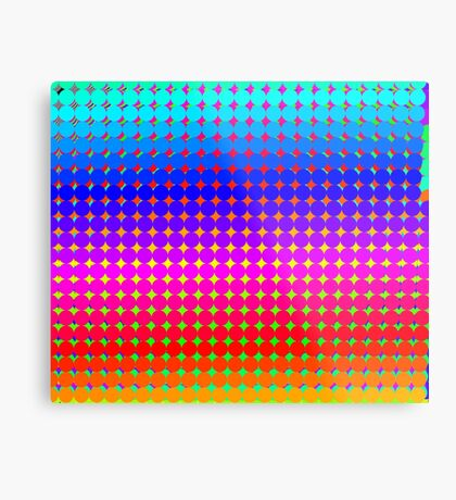 Rainbow Polka dots 008 Metal Print