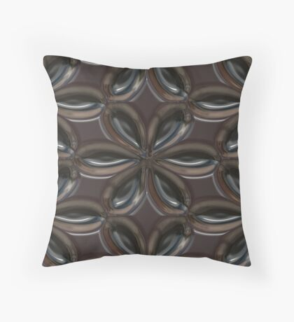 Smooth Metal Flower by Julie Everhart Throw Pillow