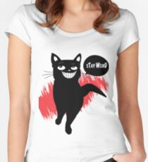 Stay weird Women's Fitted Scoop T-Shirt