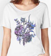 Vintage Flowers Dahlia Women's Relaxed Fit T-Shirt