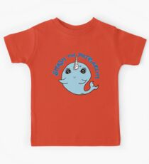 Smash the Patriarchy Feminist Narwhal Kids Tee