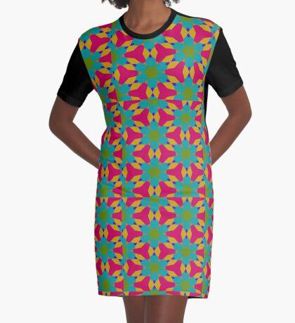 Groovy Flower Design by Julie Everhart Graphic T-Shirt Dress