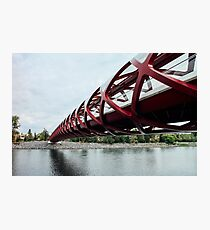 Peace Bridge - Calgary, Alberta Photographic Print