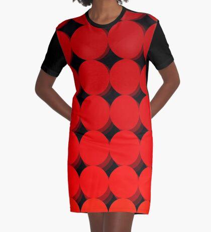 Rainbow Polka dots 009 Graphic T-Shirt Dress