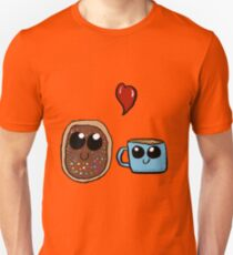 Kawaii donut and coffe cup couple  Unisex T-Shirt