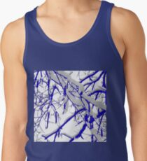 Blue Snow Branches Tank Top