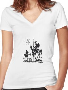 Don Quixote Women's Fitted V-Neck T-Shirt
