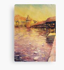 Covered Bridge- Lucerne, Switzerland Canvas Print