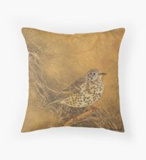 Song Thrush Throw Pillow