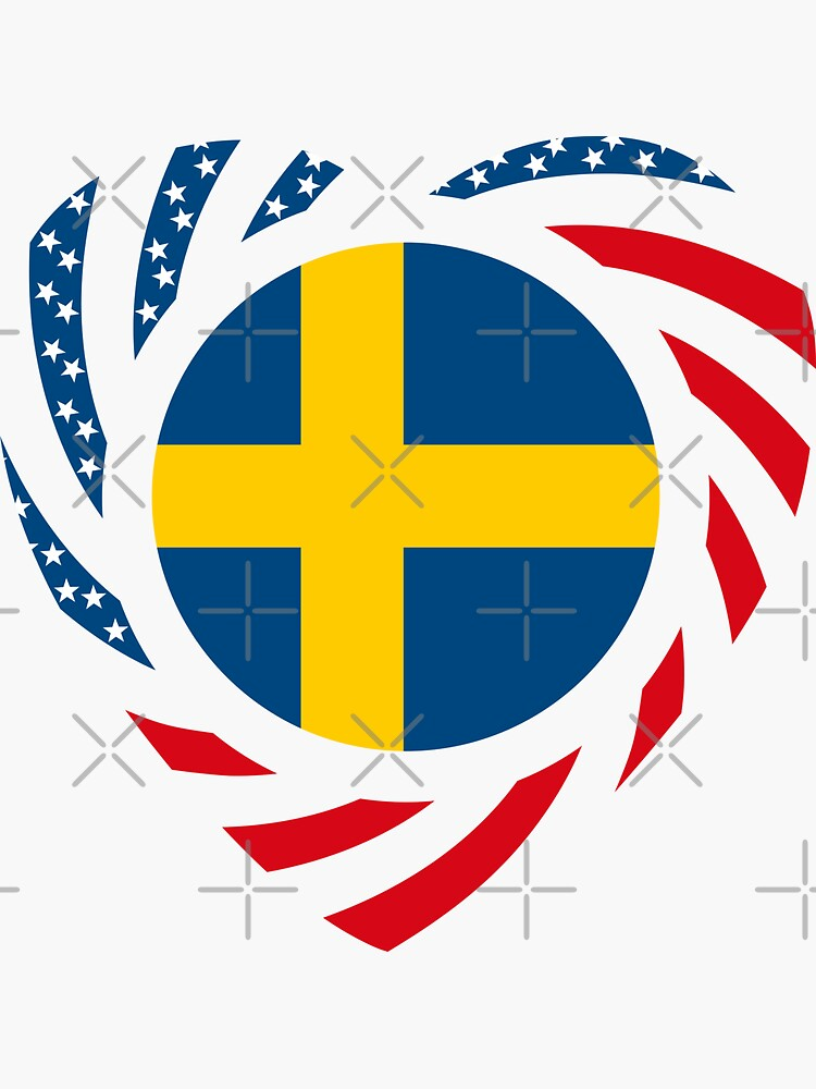 Swedish American Multinational Patriot Flag Series 2.0 by carbonfibreme