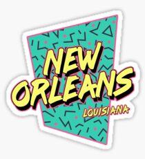 New Orleans Retro 80s Souvenir Sticker