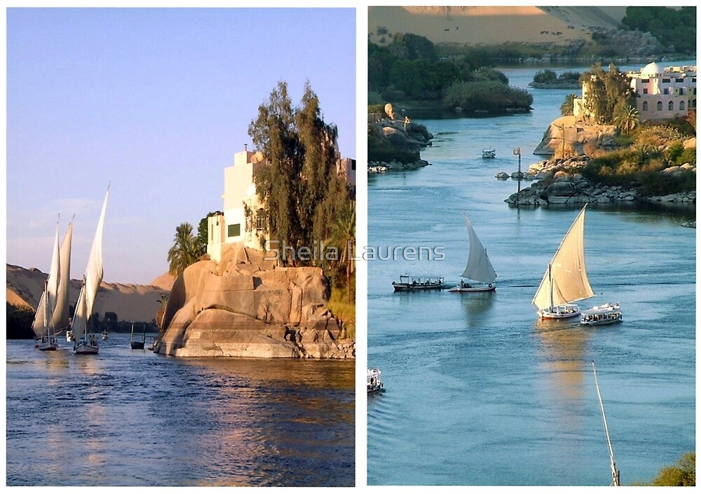 The Nile Diptych by Sheila Laurens