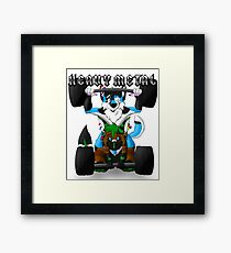 Furry Heavy Metal Framed Print