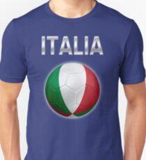 Italia - Italian Flag - Football or Soccer Ball & Text 2 T-Shirt