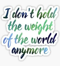 Jon Bellion Lyrics- Weight of the World Sticker