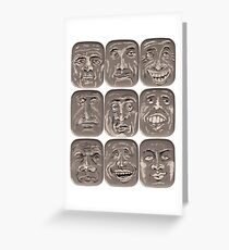 Lid Faces Greeting Card