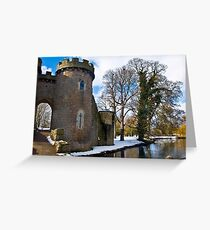 Whittington Castle with snow Greeting Card