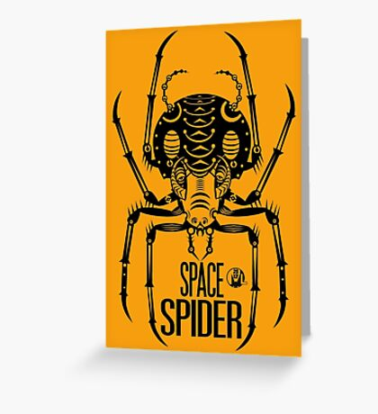 Space Spider! (black) Greeting Card