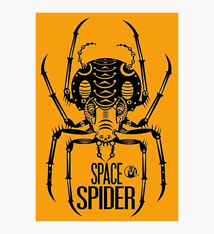 Space Spider! (black) Photographic Print
