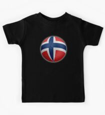 Norway - Norwegian Flag - Football or Soccer 2 Kids Clothes