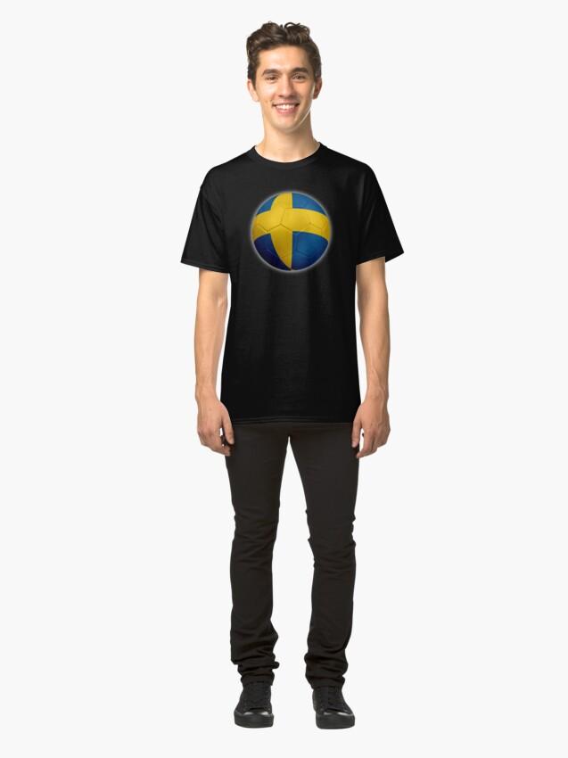Alternative Ansicht von Schweden - Schwedische Flagge - Fußball oder Fußball 2 Classic T-Shirt