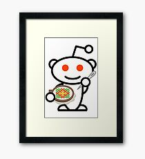 Cross Stitch Reddit Snoo Framed Print
