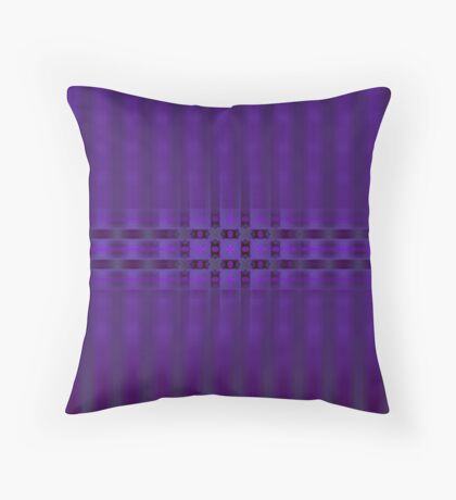 Streaks of Purple by Julie Everhart Throw Pillow
