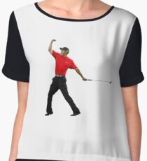 Tiger Woods Fist Pump Women's Chiffon Top