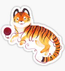 Playful Tiger Sticker