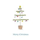 Merry Christmas tree card  by Marie Charrois