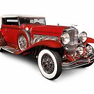 1930 Duesenberg Model SJ Rollston Convertible Victoria art photo print by ArtNudePhotos
