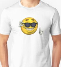 Ironic Meme Smiley Face With Sunglasses Unisex T-Shirt