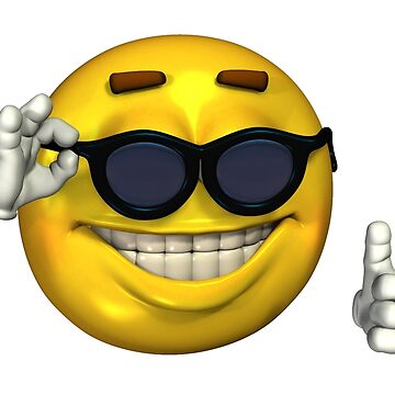 Ironic Meme Smiley Face With Sunglasses by kixlepixel