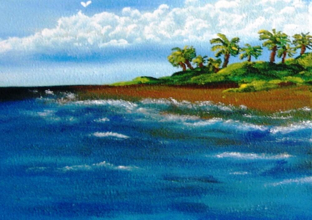 My Island on The Left by WhiteDove Studio kj gordon