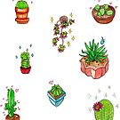 kawaii cacti  by HiddenStash