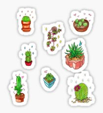 kawaii cacti sticker sheet (8) Sticker