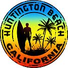 Surfing HUNTINGTON BEACH CALIFORNIA Surf Surfer Surfboard Waves Ocean by MyHandmadeSigns