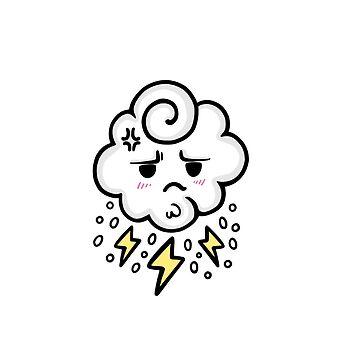 Angry Cloud by giuliaiulia