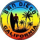 SURFING SAN DIEGO CALIFORNIA Surf Surfer Surfboard Waves Ocean by MyHandmadeSigns