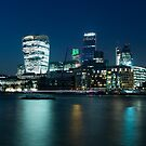 London Skyline at night by Adam North