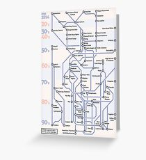 Youth SubCultures of the 20th Century Map Greeting Card