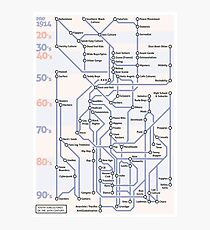 Youth SubCultures of the 20th Century Map Photographic Print