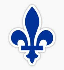 Fleur de lys du Québec Sticker