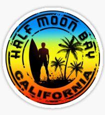 SURFING HALF MOON BAY CALIFORNIA SURF SURFBOARD MAVERICKS Sticker