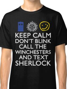 SUPERWHOLOCK SUPERNATURAL DOCTOR WHO SHERLOCK Classic T-Shirt