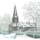 Horsforth Leeds Church in Winter by Brian Hargreaves