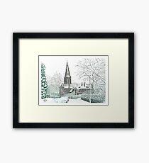 Horsforth Leeds Church in Winter Framed Print