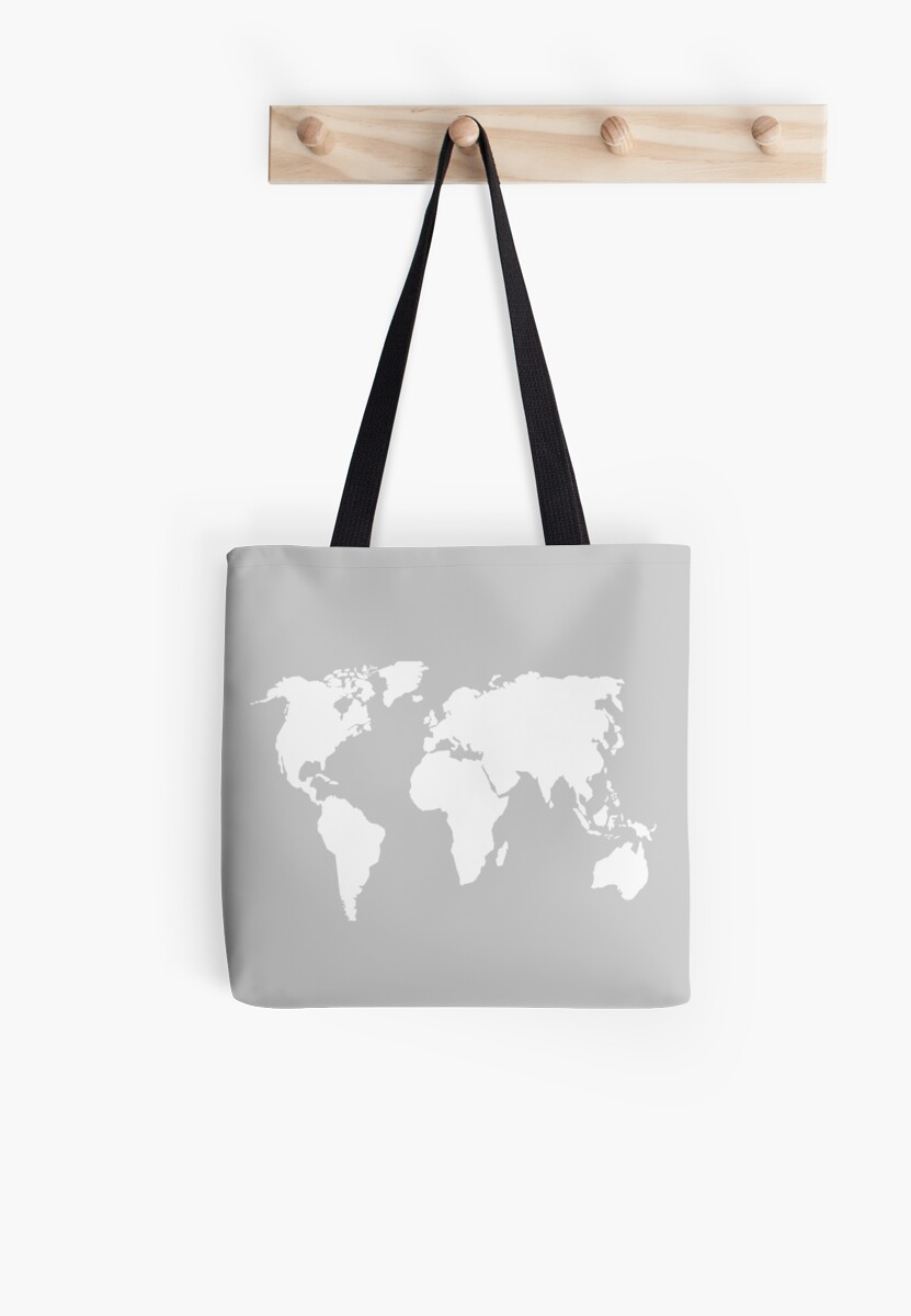 World map design tote bags by mrsalbert redbubble world map design by mrsalbert gumiabroncs Choice Image